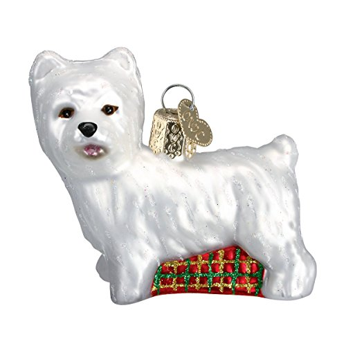 Old World Christmas Ornaments: Westie Glass Blown Ornaments for Christmas Tree (Ornaments Westie)