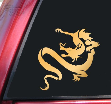 Chinese Dragon Vinyl Decal Sticker - Mirror (Chinese Dragon Vinyl)