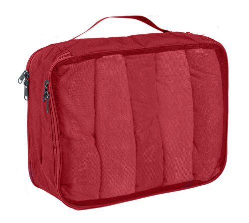 Eagle Creek Packtasche Pack-It Original Clean Dirty Cube platzsparender Wäschesack für die Reise, M Red Fire