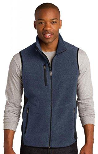 Port Authority R-Tek Pro Fleece Full-Zip Vest>L Navy Heather/Black F228