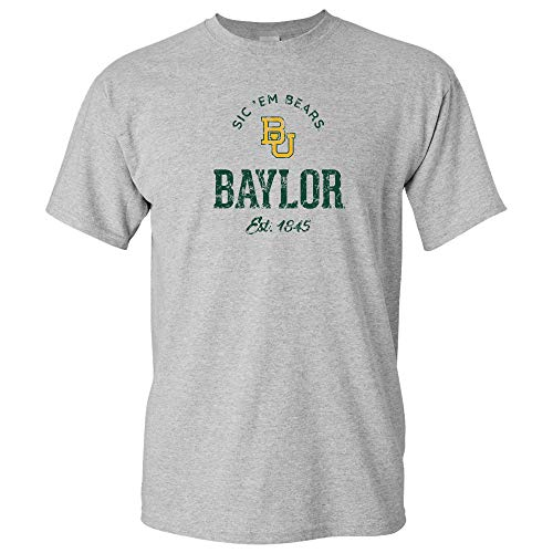 UGP Campus Apparel AS06 - Baylor Bears Established Arch Logo T-Shirt - X-Large - Sport Grey