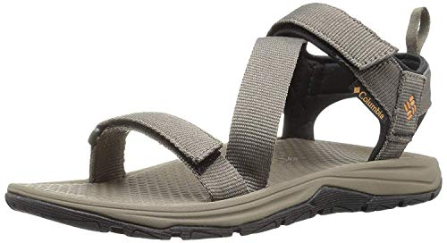 Columbia Men's Wave Train Sport Sandal, Mud, Canyon Gold, 12 Regular US by Columbia