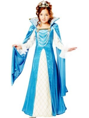 California Costumes Renaissance Queen Child Costume, -