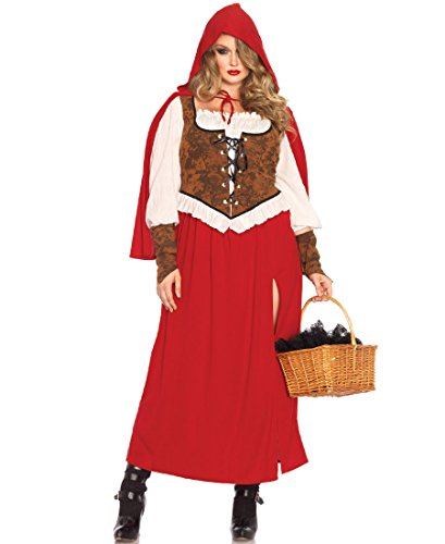 Woodland Little Red Riding Hood Adult Costume - Plus Size 1X/2X