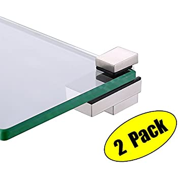 kes glass shelf bracket glass clamp for 415mm wood or glass shelves solid