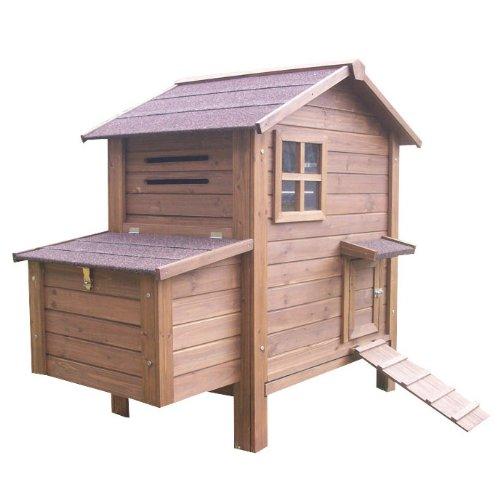 Hühnerstall Hühnerhaus Geflügelstall Nr. 03 Gickelheim mit ausziehbarer Wanne und Legebox