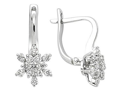 Birgie Diamants et Bijoux -Boucles d'Oreilles Diamants Solitaires-Femme- or Blanc 204E0047