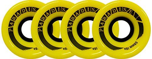 PARADISE Skateboard Cruiser Wheels 59mm 78A Yellow Old School Filmer