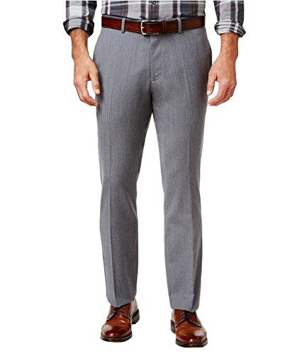 Tasso Elba Mens Wool Flat Front Trouser Pants Gray 34/32 from Tasso Elba