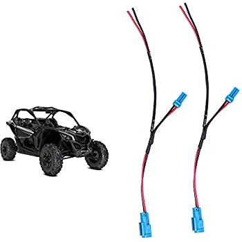 2 pcs maverick x3 accessory wiring pigtail for can am maverick x3