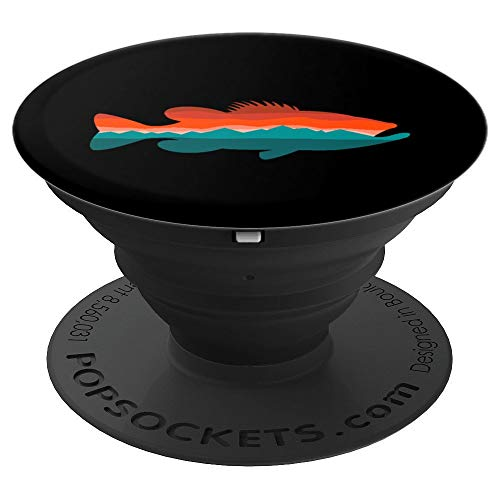 Bass Fishing Sunset PopSockets Grip and Stand for Phones and Tablets