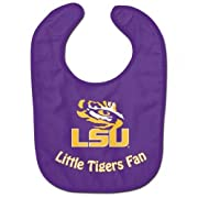 NCAA College Full Color Mesh Baby Bibs (LSU Tigers All Pro)