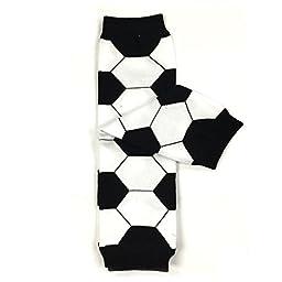Bowbear Adorable Designs Baby Leg Warmers, Soccer Ball OS