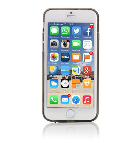 ArktisPRO Cushion Hülle für Apple iPhone 6 Plus glasklar schwarz