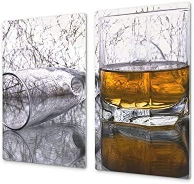 Cubre vitros de Cristal Templado - Tabla para Cortar de Cristal – Tabla para amasar y Protector de vitro – UNA Pieza (60 x 52 cm) o Dos Piezas (30 x ...