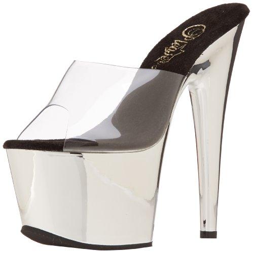 Plateforme Pleaser Clr 701 Chrome Sandales Transparent Slv Adore Femme ppSxngW6T