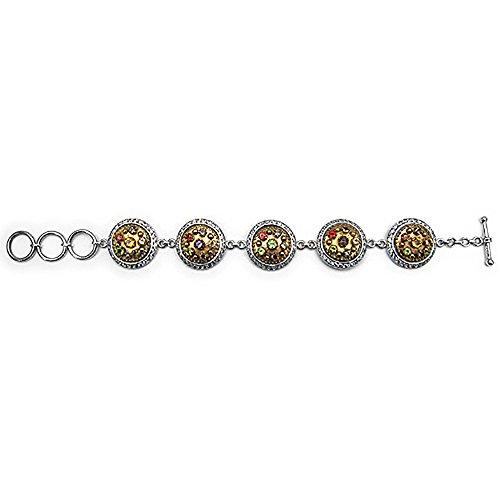 Citrine en 32.20 Gms Sterling Silver Tennis Bracelet Femme