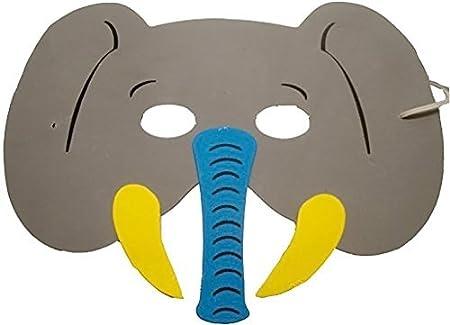 10 pcs Cartoon Animal máscara máscara de los niños fiesta máscara perro Mono elefante tigre jirafa gato: Amazon.es: Hogar