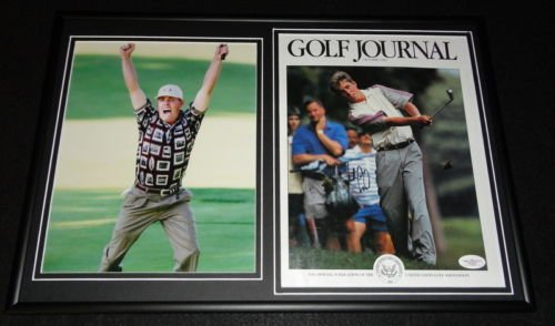 Justin Leonard Signed Framed Magazine Cover & Ryder Cup Photo Set JSA (Leonard Justin Ryder Cup)