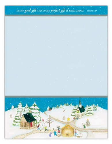 """Price comparison product image Perfect Gift Winter 8.5"""" x 11"""" Letterhead with Scripture - Pkg. of 25 (39262)"""