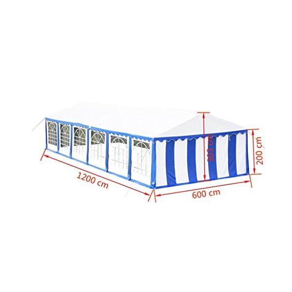Shengfeng Tendone da Festa 12 x 6 m Blu.Gazebo Pieghevole Gazebo da Giardino Gazebo eurolandia Gazebo Esterno Gazebo… 6 spesavip