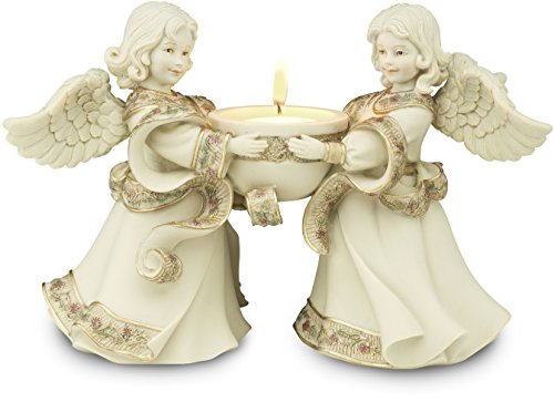 (Pavilion Gift Company Sarah's Angels Tapestry Series Friend Angels Tea Light Holder, 5-1/2)