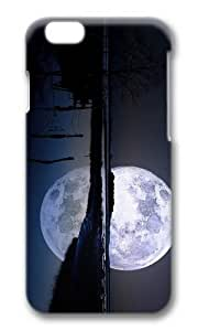 MOKSHOP Adorable full moon lagoon Hard Case Protective Shell Cell Phone Cover For Apple Iphone 6 (4.7 Inch) - PC 3D