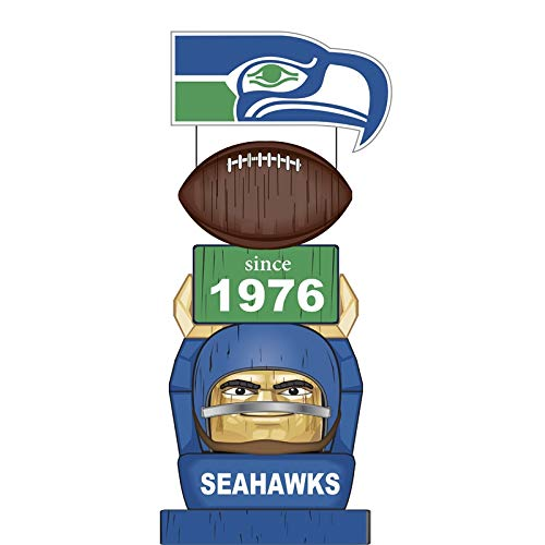 (Team Sports America Seattle Seahawks Vintage NFL Tiki Totem Statue)