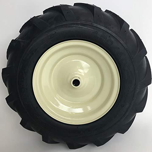 LMTS 4.80x4.00-8 Tractor Tread Tire & Rim - Cub Cadet & Troy-Bilt Tiller Replacement Wheel