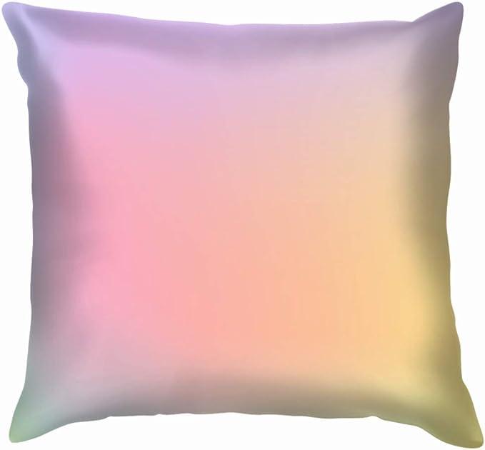 Light Pastel Rainbow Colors Pillow Case