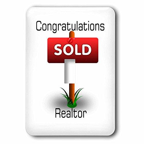 3dRose (1) individual interruptor de palanca (LSP _ 240698_ 1) imagen de felicitaciones para de bienes raíces con se vende...