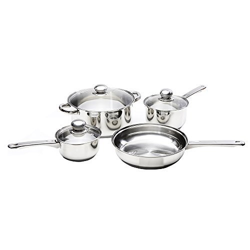 Kinetic Classicor Series Stainless Steel Cookware Set with Lids 29081, 7-Piece, 7 Piece Set, Stainless Steel by Kinetic