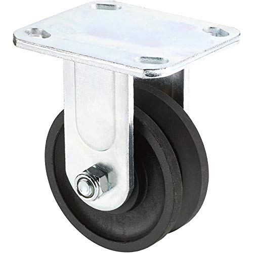 Grizzly T23970 4-Inch V-Groove Plastic Fixed Caster ()