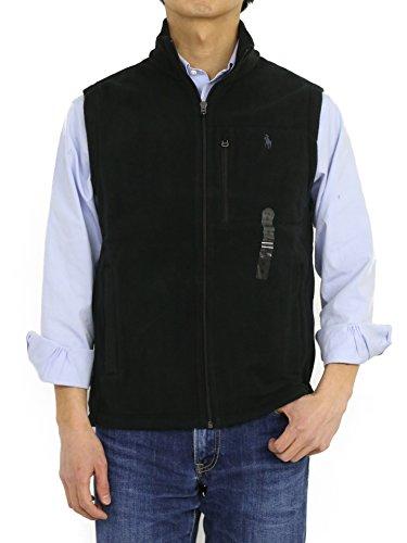 Ralph Lauren Polo Mens Pony Logo 3-Pocket Fleece Vest Jacket (Large, - For Big Men Vest Pony Polo