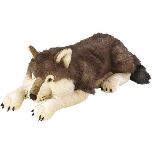 Wild Republic Jumbo Wolf Plush, Giant Stuffed Animal, Plush Toy, Gifts for Kids, 30 Inches (Pillow Bear Body)