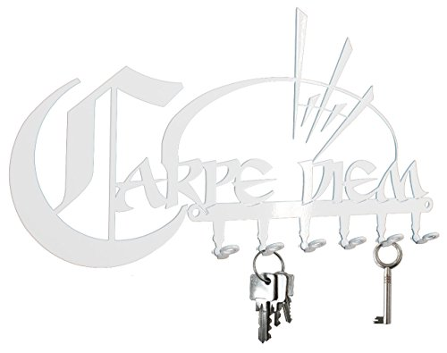 Key hook Carpe Diem - seize the day - key holder for wall - white - keys - Store 02 Finder