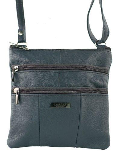 Cross Small Leather Bag Soft Ladies Body Navy Genuine Lorenz 1 1941 Shoulder 5qwTXAZAx