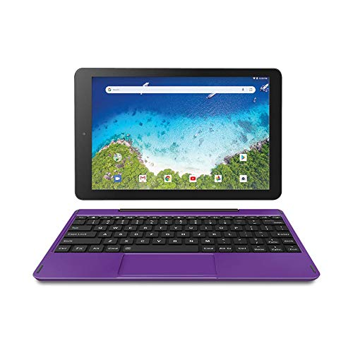 RCA 10″ Viking Pro (2-in-1) Laptop Tablet with Detachable Keyboard – 32GB | Android 8.1 (Go Edition) – (RCT6A03W13F1H) (Purple)