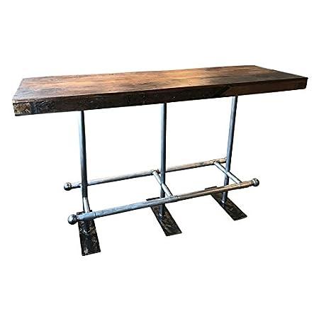 Stehtisch Bartisch Factory Recyceltes Holz 170 X 60 Amazon De