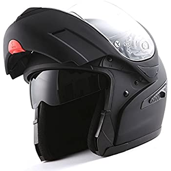 1Storm Motorcycle Modular/Flip up Dual Visor Sun Shield Full Face Helmet