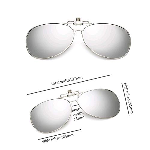 GAMT Clip-on Sunglasses, Retro Polarized Clip-on Flip-up Sunglasses for Driving Traveling Party Fishing Silver