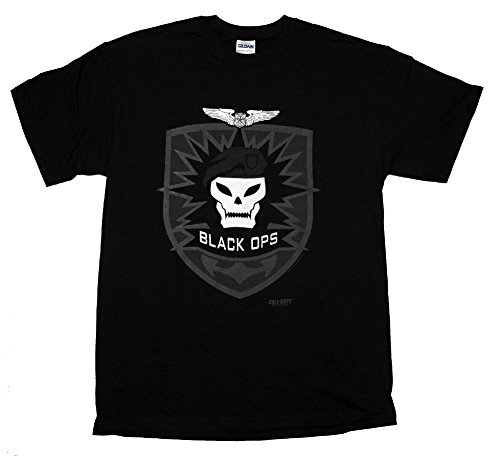Call of Duty Black Ops Skull Logo Video Game T-Shirt Tee