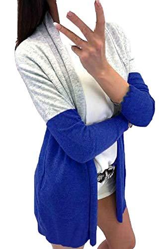 Veste Mode Casual Simple Manteau Gilets Automne Outwear Chandail Jeune Slim Pulls Coat Patchwork Cardigan Hauts Femmes Tops Longues Manches Fashion Printemps S6xpTYS