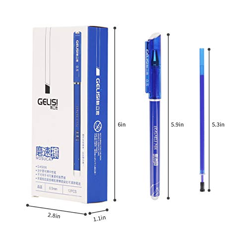 Friction pens,BBLIKE 12PCS Erasable Rollerball Pen and 20 Ballpen Refills,More