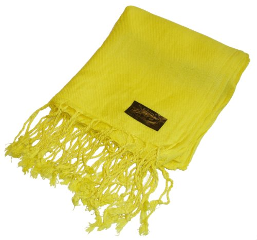 Kuldip Unisex Factory Seconds Pashmina Scarf Shawl Wrap Throw Bright Yellow