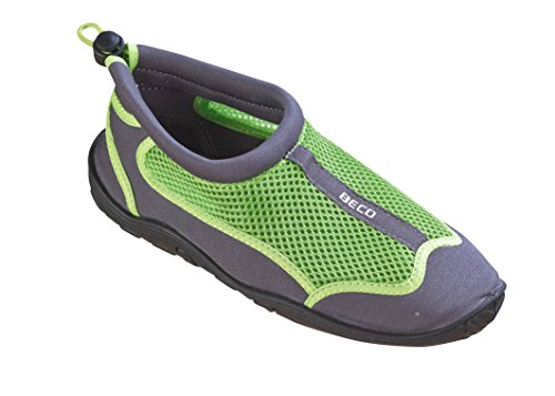 BECO Bathing Shoes Surfing Shoes Tideland Shoes Beach Shoes Aqua Shoes Grey/Black UK Size 11 grey/green