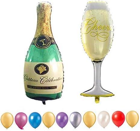 Foil Balloon Champagne Anniversaire Ballon Fête//Mariage Accessoires