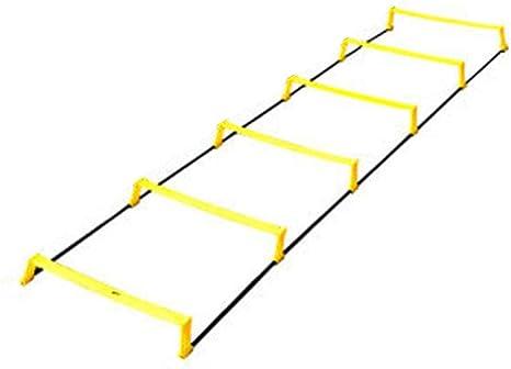 Xin Escalera de Agilidad de Entrenamiento de fútbol, de Doble propósito Escalera de Agilidad - 6-Velocidad peldaño de Escalera, fútbol, Deportes, Ejercicio, Entrenamiento Footwork: Amazon.es: Deportes y aire libre