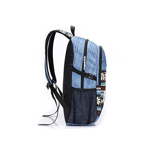 Fieans Backpack Neuen Typ Rucksaecke Schulrucksaecke Daypack Schulranzen Wanderrucksack Schultasche fuer Schueler Freizeit Outdoor Sport-Blau