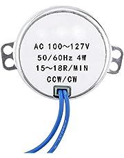 1pc AC 100-127V 4W Synchronous Motor 50/60Hz CCW/CW Geared Motor(15-18RPM)